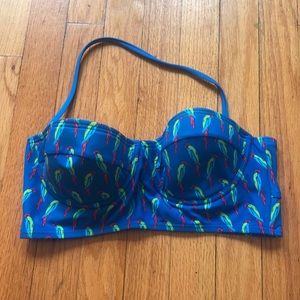 Parrot printed Bikini Top
